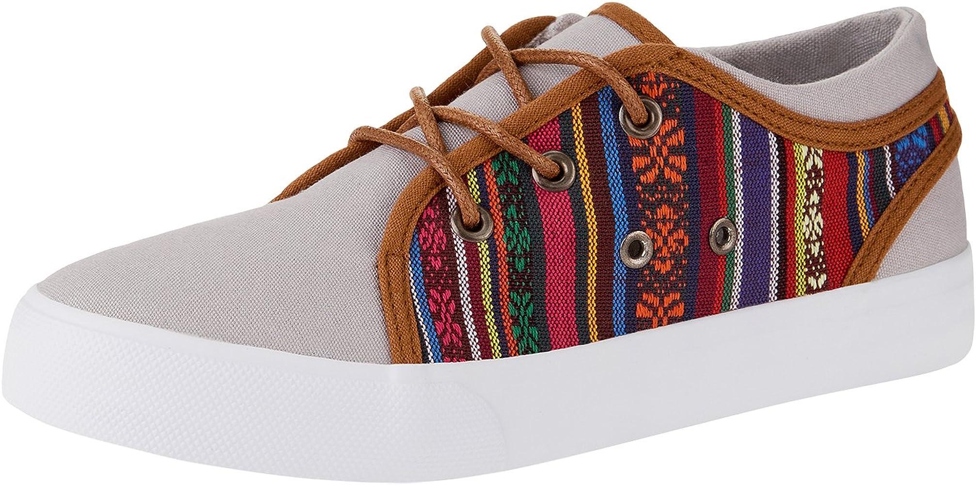 oodji Ultra Mujer Zapatillas de Tela Combinadas, Multicolor, 36 EU ...