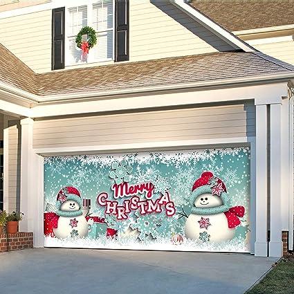 The Original Holiday Garage Door Banner Decor Holiday Garage Door Banner Mural Sign D/écor 7x 16 Car Garage Victory Corps Every Vote Counts