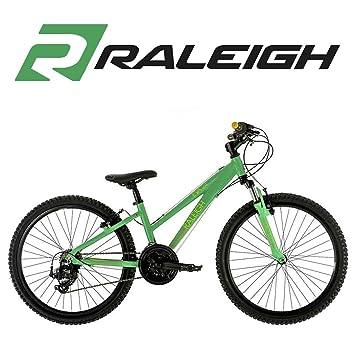 Raleigh Eva 24 Inch Mountain Bike in Green - 13 Inch Frame: Amazon ...