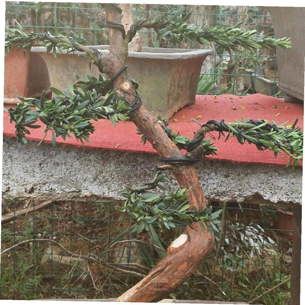 6 Hilos de Aluminio del Rodillo 5m de formaci/ón del jard/ín del /árbol Bonsai Principiantes Formadores Artistas Plantas Formaci/ón /árboles Alambre de 1 mm 1,5 mm 2 mm Negro