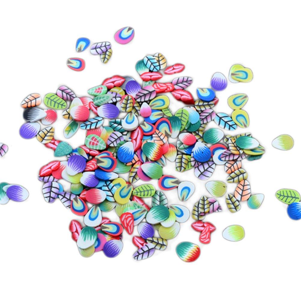 bigboba 5000 morceaux de puces 3D Nail Art Fimo Mélange Aléatoire, Feder, 5000PCS
