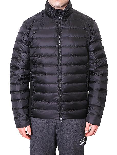 Emporio Armani EA7 cazadoras chaqueta de hombre plumíferos chapucha nuevo negro: Amazon.es: Ropa y accesorios