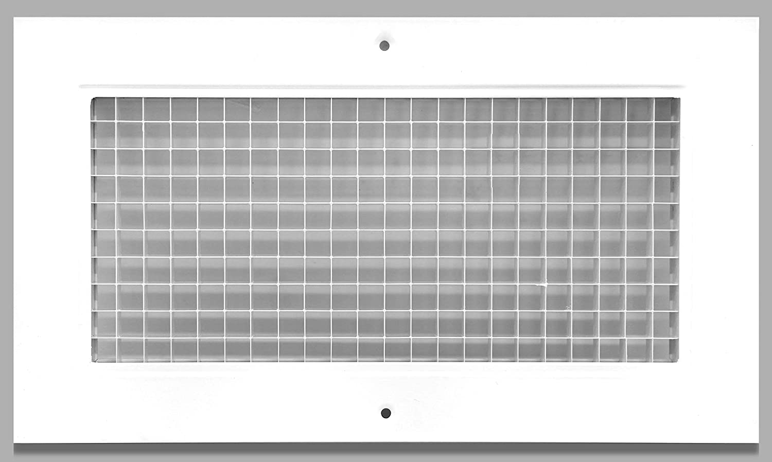 """6"""" x 12"""" Cube Core Eggcrate Return Air Grille - Aluminum Rust Proof - HVAC Vent Duct Cover - White [Outer Dimensions: 7.75 X 13.75]"""
