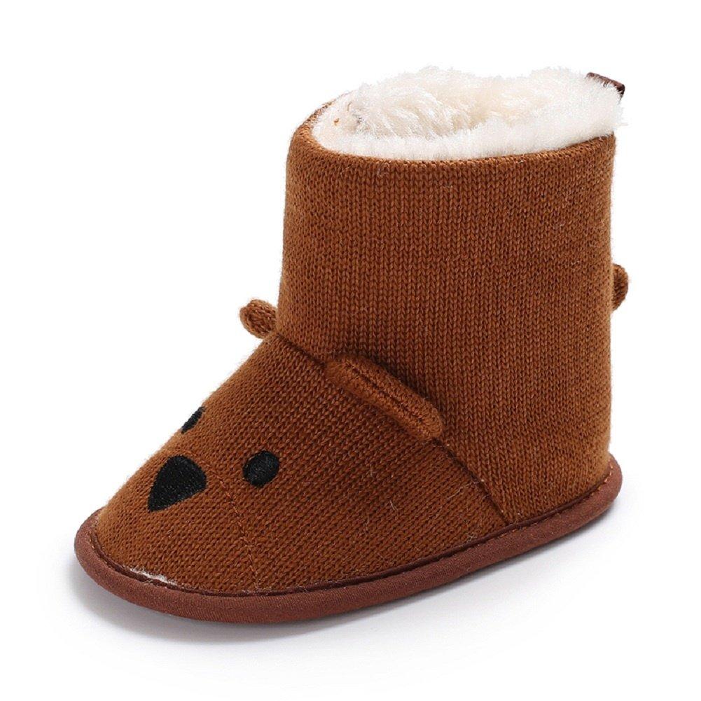 Meeshine Little Baby Newborn Premium Knit Soft Sole Warm Winter Infant Prewalker Crib Shoes Toddler Boy Girl Snow Boots