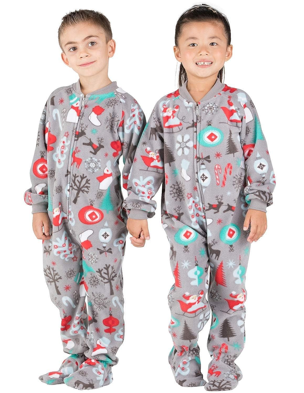 Santas Village Toddler Fleece Onesie Footed Pajamas
