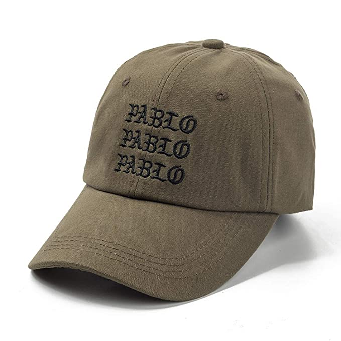 c9444843 Image Unavailable. Image not available for. Color: New I Feel Like Pablo  Red Hat Dad Baseball Cap Kanye Pablo Embroidery dad hat Men