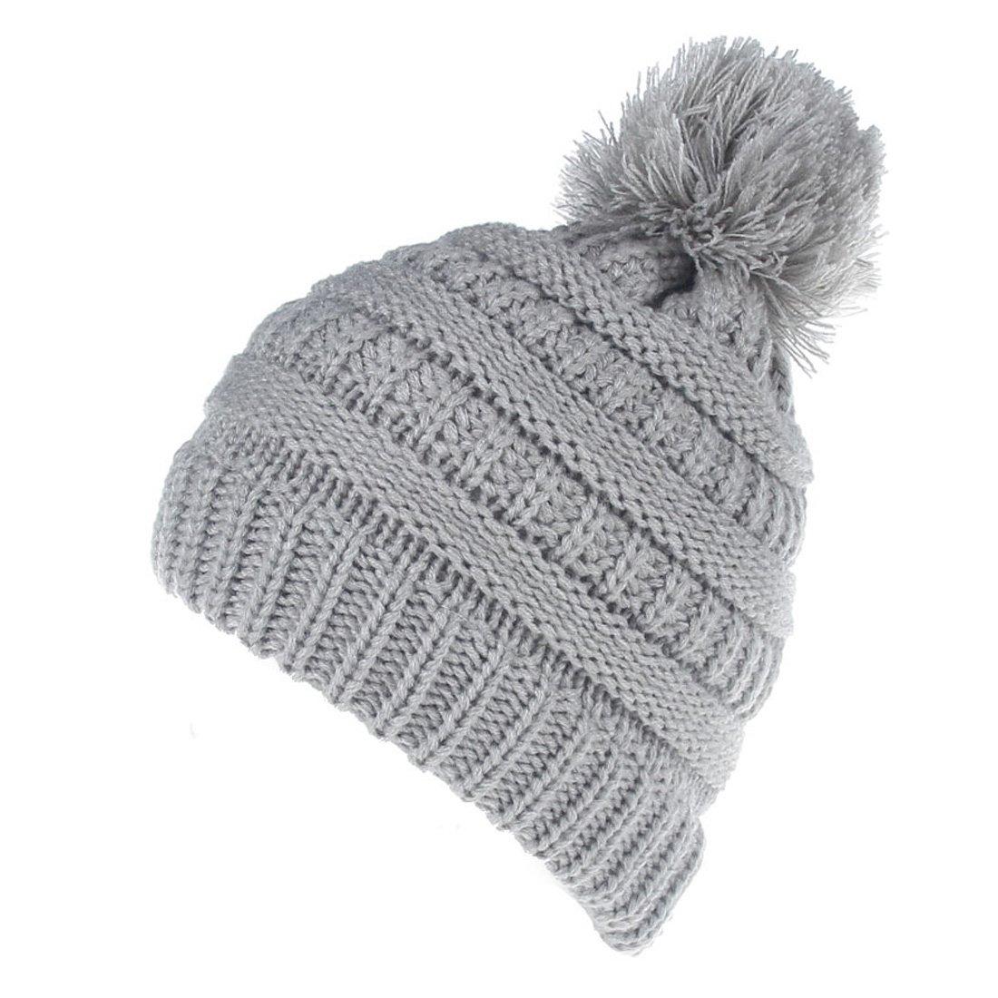 Topcoco Newborn Baby Girls Boys Winter Hat Knitted Pom Pom Skull Caps TPXMZ51-2