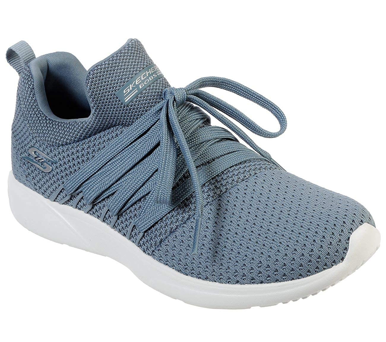 Slate Skechers Womens Bobs Sparrow Sneaker Club Textile Trainers