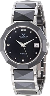Viceroy Womens 47576-57 Black Ceramic & Stainless Steel Bracelet Date Watch