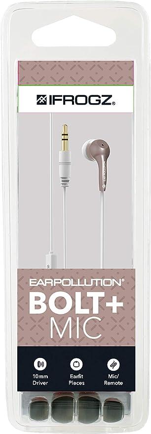 ifrogz Bolt Plus Ecouteurs ergonomiques avec microphone Noir