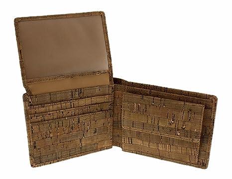 Cartera para hombre de corcho portemonedas billetero monedero vintage deluxe