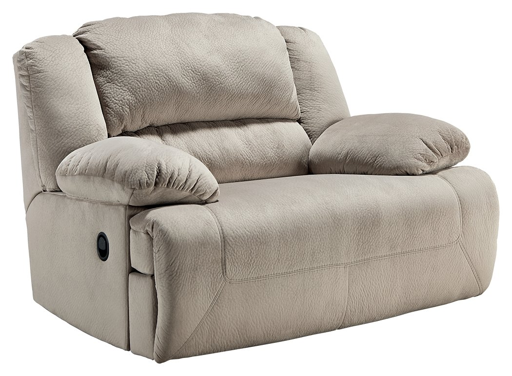 Ashley Furniture Signature Design - Toletta Recliner Chair - Wide Power Reclining Love Seat - Granite