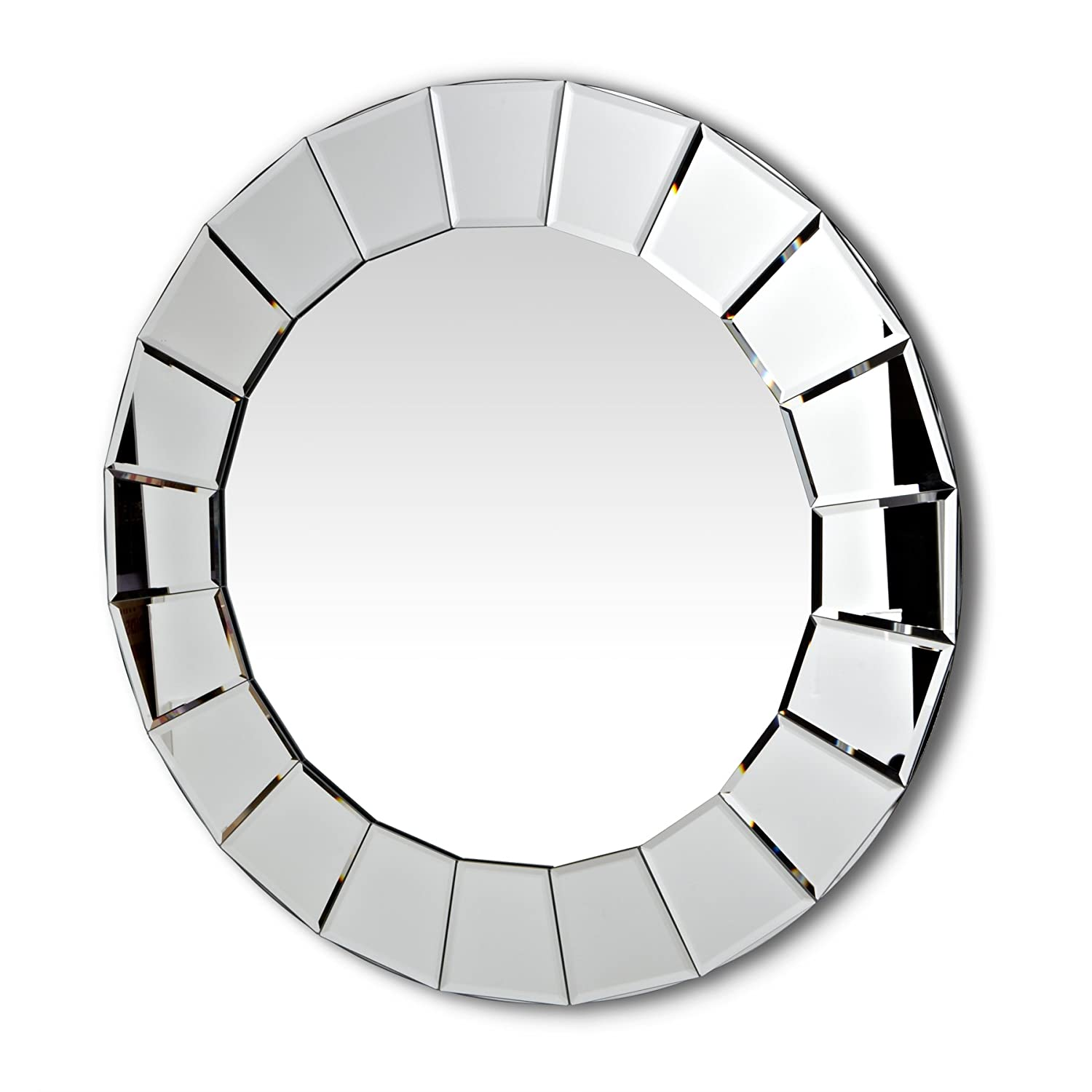 Abbott Collection Home 21-VISION//011 Round Fluted Border Wall Mirror