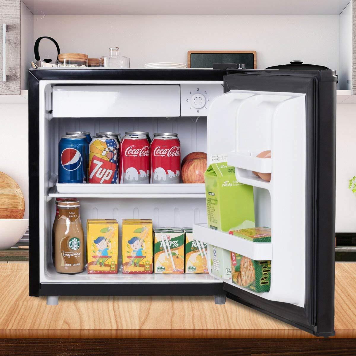 costway Mini nevera mini frigorífico con congelador 1 estantería ...