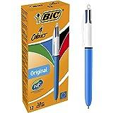 BIC 4 Colores Mini Bolígrafos retráctiles, punta media (1.0 mm ...