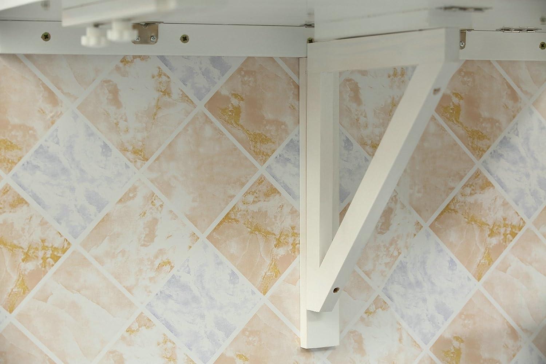 Bianco Orolay Tavolo Pieghevole a Muro Scrivanie Tavolo per Computer Tavolo da Cucina 60x40cm