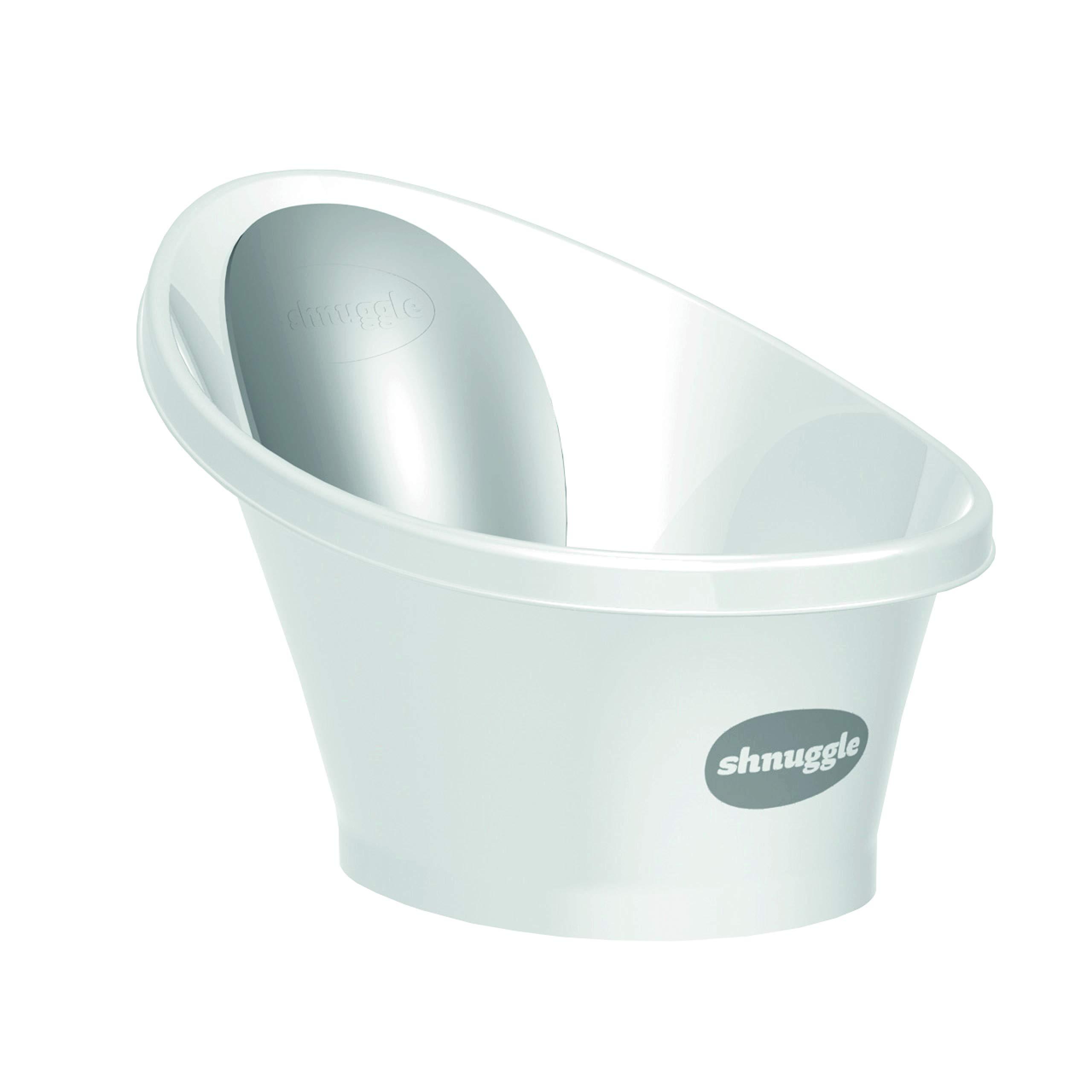 Shnuggle Baby Bath Tub - Compact Support Seat for Newborns, Wash Infants and Make Bath Time Easy, 0-12m, Grey by SHNUGGLE