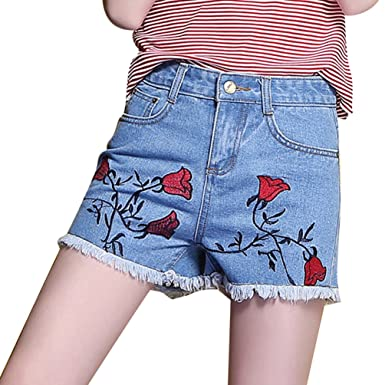 YiLianDa Damen Hotpants Shorts Kurze Hose Chino Bermuda Denim Pants  Amazon. de  Bekleidung a67816861d