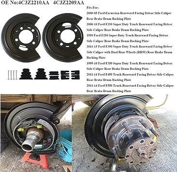 Dorman Rear Brake Dust Shield Backing Plates Pair for ford F250 F350