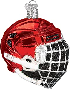 Old World Christmas Player Gifts Glass Blown Ornaments for Christmas Tree Hockey Helmet