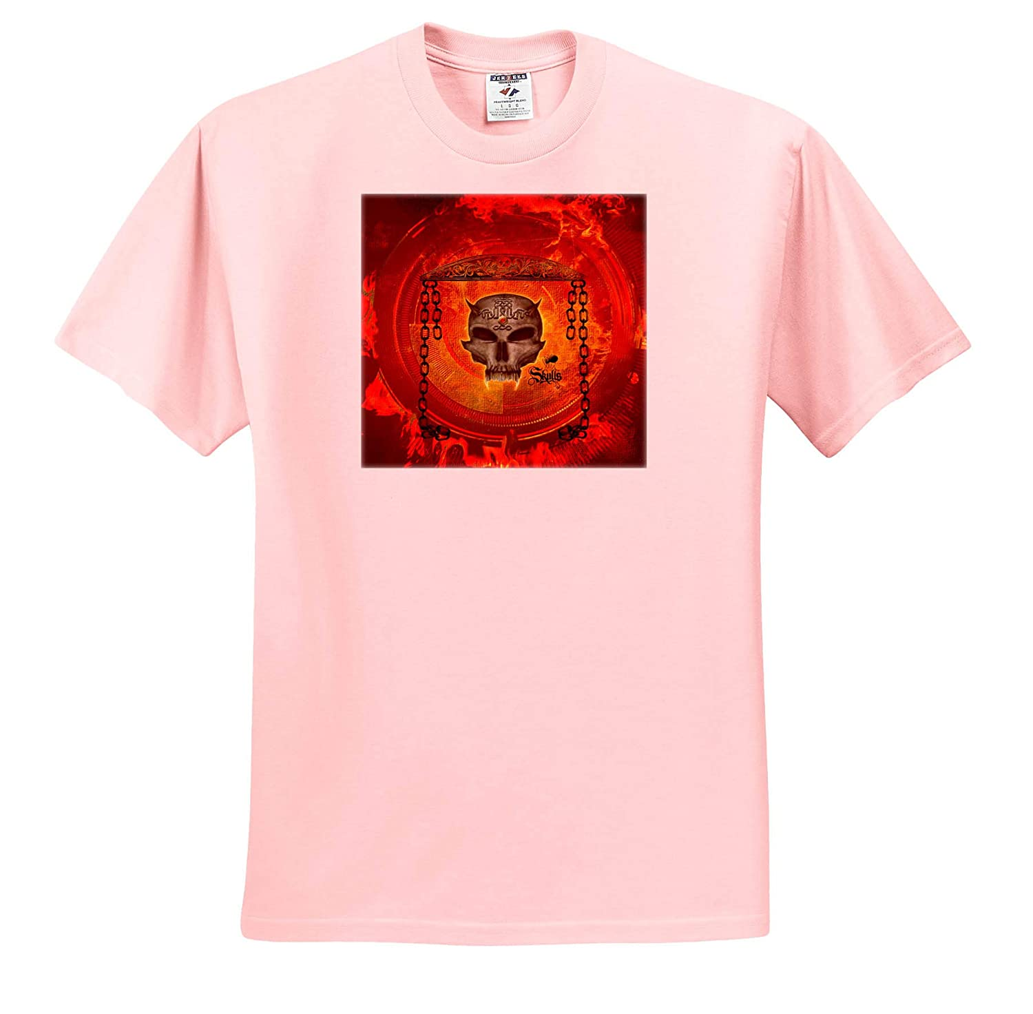 3dRose Heike K/öhnen Design Skull ts/_310280 Adult T-Shirt XL Awesome Skull with Celtic Knot