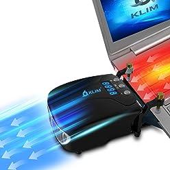 ⭐️KLIM Tornado Refroidisseur PC Portable - NOUVEAU + INNOVANT - Refroidissement Rapide - Extracteur d'air USB pour Ordinateurs Portables - Compact + Léger + Puissant + Efficace Contre la Surchauffe [ Nouvelle 2018 Version ]