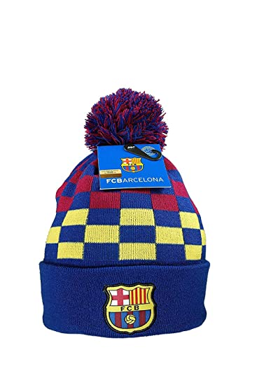 cf3d16af0afd66 Amazon.com: FC BARCELONA CUFFED POM POM BEANIE HAT: Sports & Outdoors