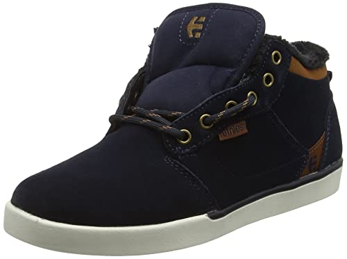 Etnies Jefferson Mid, Zapatillas de Skateboard para Hombre, Azul (Navy/Brown/White 480), 42.5 EU Etnies