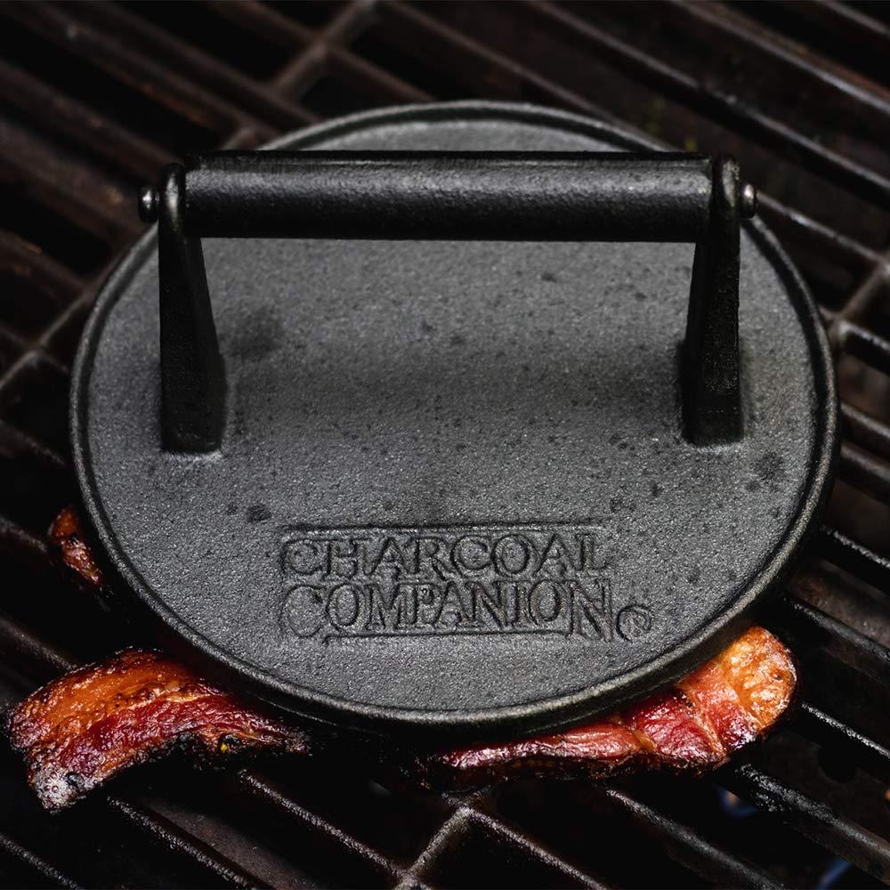 CHARCOAL COMPANION CC5023 Pressa Tonda in ghisa-Accessori Barbecue Unica