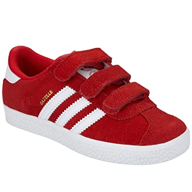 681da39b92a adidas Boys Originals Children Boys Gazelle 2 Trainers in Red - 10.5 Child