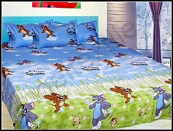 PruMART Tom U0026 Jerry   Double Bedsheet  Kids Cartoon Sheet (bedsheets/ Bed  Sheet): Amazon.in: Home U0026 Kitchen