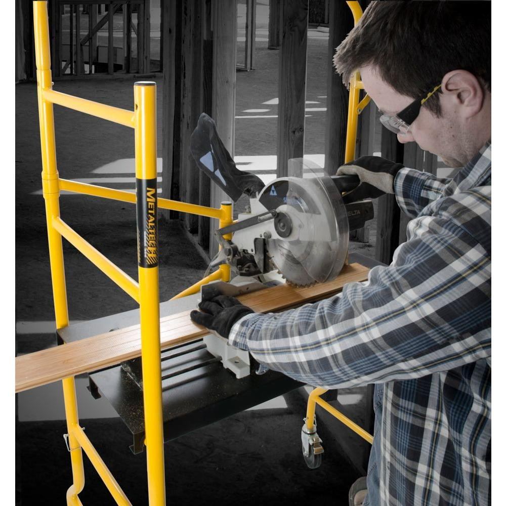 Metaltech I- IMIS Job Site Series 6-3/8 4 x 2-1/2 ft. Scaffold 900 lb. Load Capacity by Metaltech
