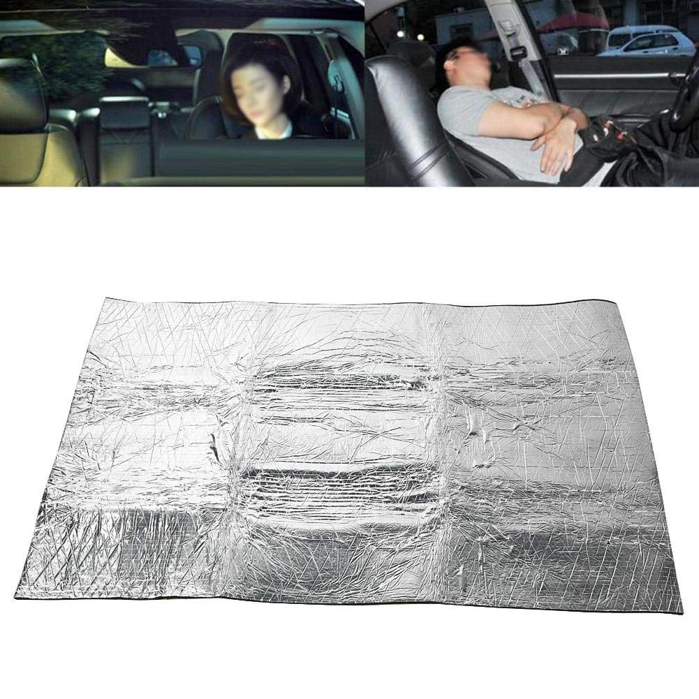 Hlyjoon Car Sound Deadening Mat Black 60X40inch 10mm Automatic Cell Foam Sound Proofing Deadening Foam Cotton Aluminium Foil Vehicle Noise Heat Insulation Waterproof Moistureproof Deadener