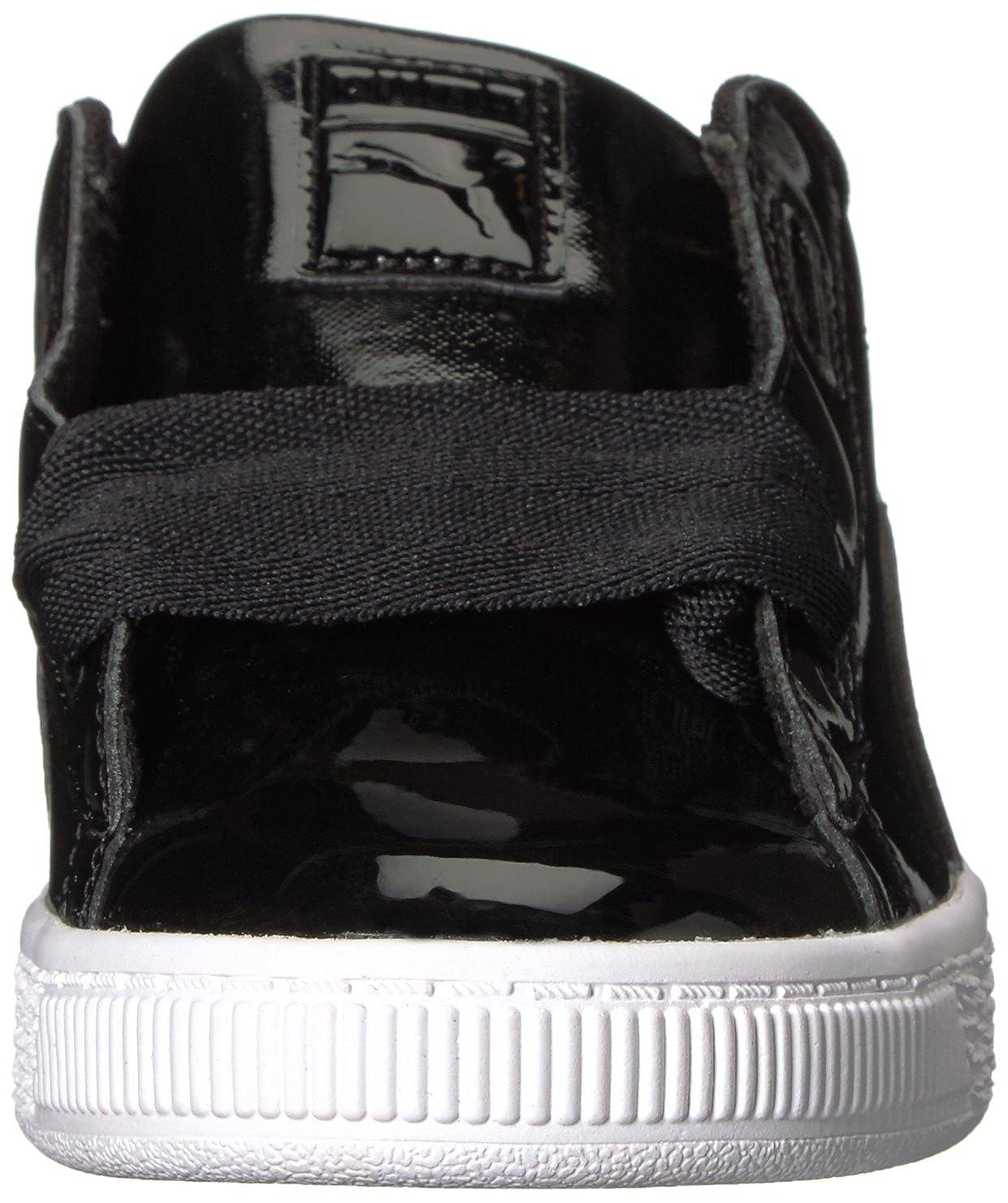 5a73b6530d76 PUMA Girls  Basket Heart Patent PS Sneaker
