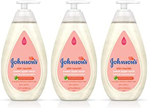 Johnson's Skin Nourishing Baby Wash With Apple Extract, Hypoallergenic & Tear Free Baby Wash, 16.9 fl. oz