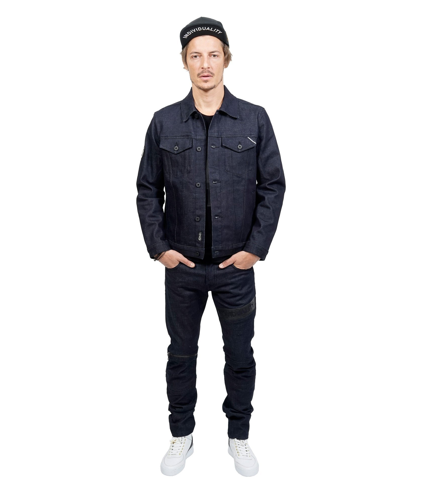 Cult of Individuality Men's Greaser Straight Moto Denim Jean, Raw, 42 by Cult of Individuality