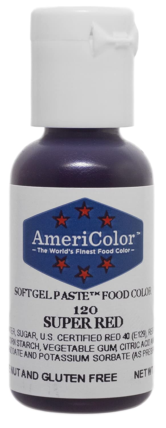 AmeriColor Super Red Soft Gel Paste, .75oz