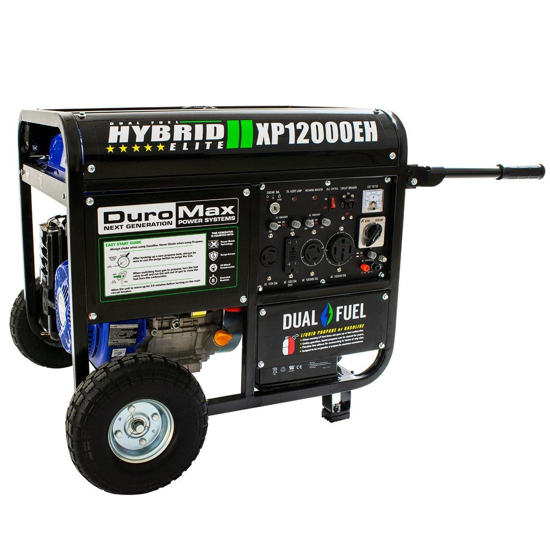 Duromax Hybrid Dual Fuel Xp12000eh 12000 Watt Portable 240 Volt Generator Inlet Wiring Diagram Garden Outdoor