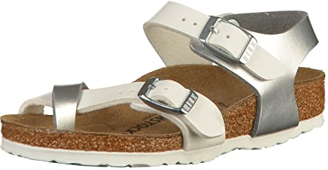 Birkenstock Taormina Soft Metallic Siver White 39  Amazon.it  Sport ... 64943fc2a1e