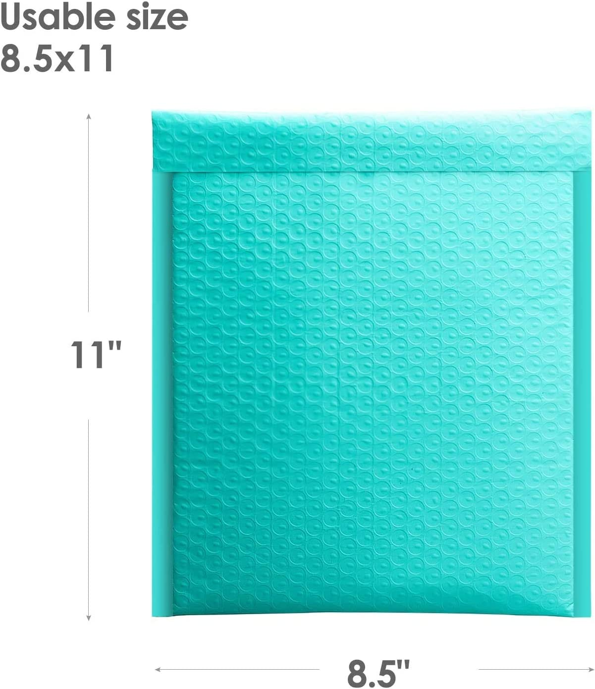 Switory 25pcs 21.6cmx28cm Poly Bubble Mailers Padded Envelopes Bubble Lined Poly Mailer Self Seal Teal Green
