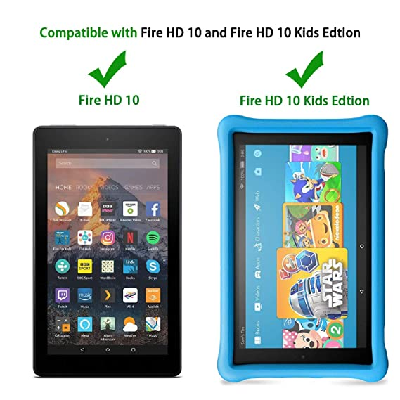 All-New Fire HD 10 2019/2017 Tablet Case - TIRIN Light Weight Shock Proof Handle Stand Kids Friendly Case for Amazon Fire HD 10.1 Inch Tablet (9th/7th ...