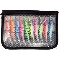 10 pcs/Bag Mix Colors Artificial Squid Jigs Lure 13cm 20g hot Selling Australia