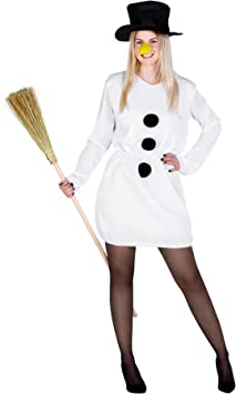 TecTake dressforfun Disfraz muñeca de Nieve para Mujer | muñeco de ...