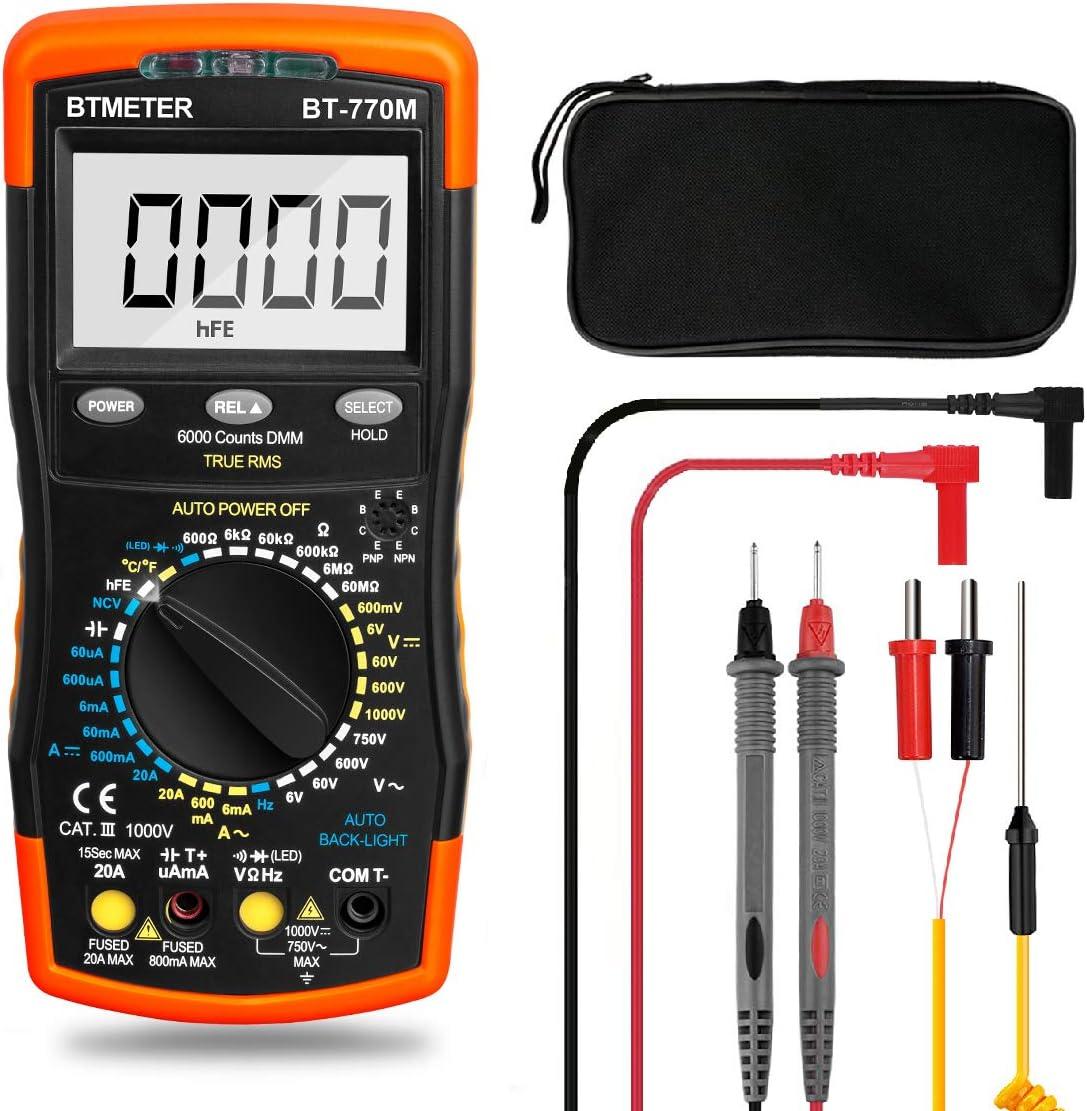 BTMETER BT-770M Auto Manual Ranging Optional True RMS Multimeter Tester Digital Avometer Voltmeter