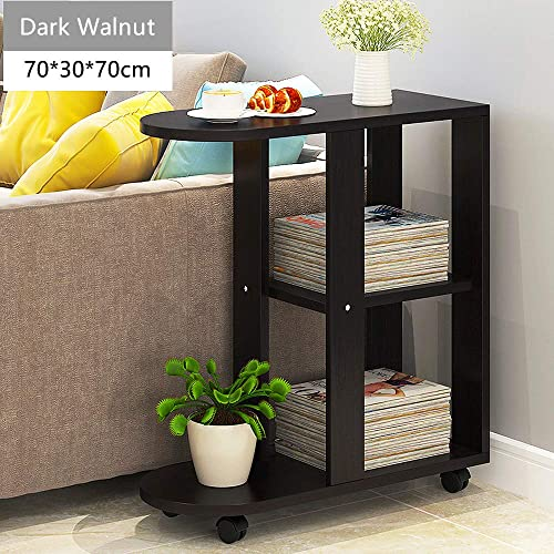 Side Table,4HOMART Movable Small Coffee Table Simple Mini Table Sofa Cabinet Creative Side End Table for Living Room