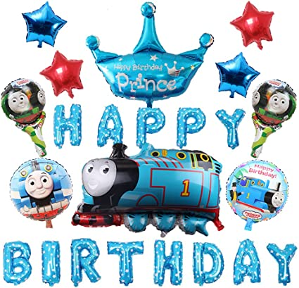 Birthday Balloons Kids Baby Party Decor Sets Number Cake 13 pieces
