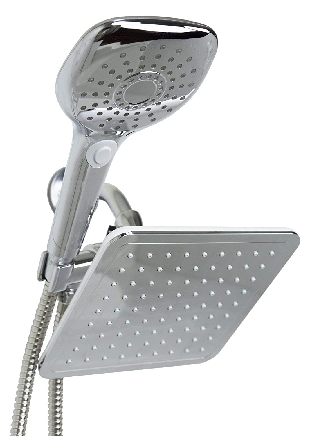 Home Basics Sunbeam 5 Function Dual Shower Massager with Rainfall Head Set