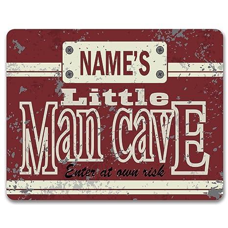 Vintage Efecto Little Man Cave – personalizada pared de metal Puerta o/Cartel