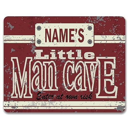 personalised little man cave vintage metal door sign boys