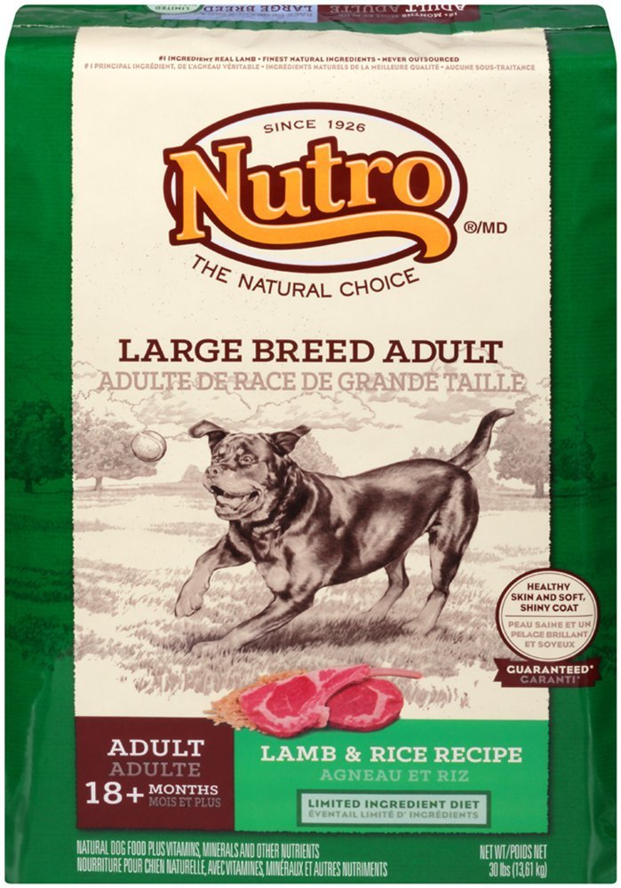 NUTRO NATURAL CHOICE Large Breed Adult Dog Food Lamb and Rice Recipe 30 Pounds